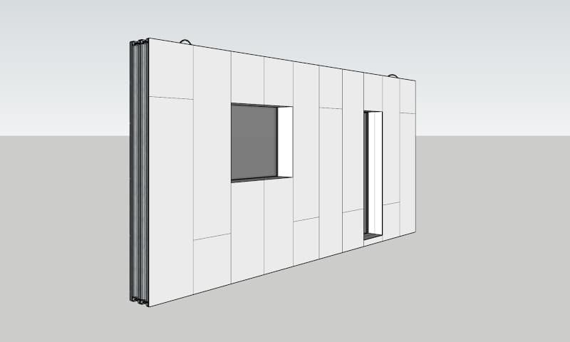 Thermo-Wall panel with Rockwool isolation
